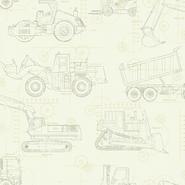 CONSTRUCTION BLUEPRINT KS2354 Wallpaper